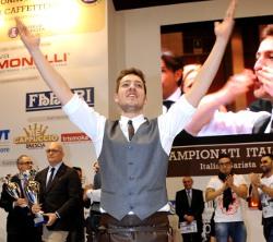 Il giovane toscano GIACOMO VANNELLI è il nuovo campione dei baristi italiani