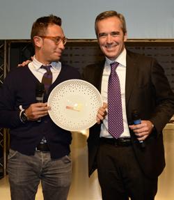 """BIRRA  MORETTI CONFERISCE a Stefano Ciotti il """"premio birra in cucina 2014"""""""