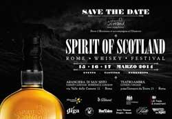 SPIRIT OF SCOTLAND –  Rome Whisky Festival  il 15 – 17 MARZO 2014