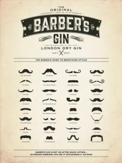 Arriva BARBER'S  LONDON  DRY  GIN, il gin del barbiere!