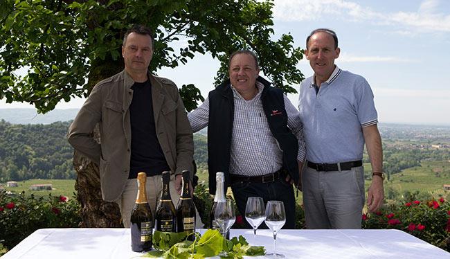 Soci Col Vetoraz - da sx Loris Dall'Acqua, Francesco Miotto e Paolo De Bortoli