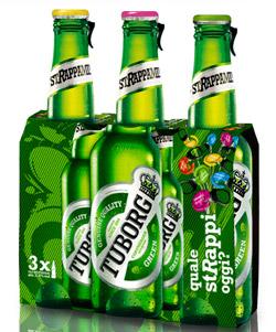 Birra TUBORG lancia il nuovo pack basato su 5 colori rappresentanti altrettanti stati d'animo o azioni.