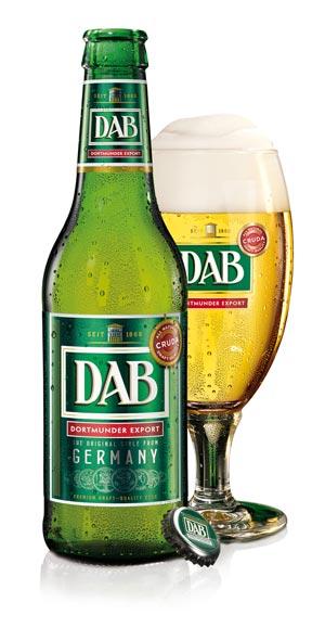 DAB-bottiglia e bicchiere