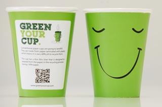 GREEN YOUR CUP: la nuova tazza da caffè 100% riciclabile