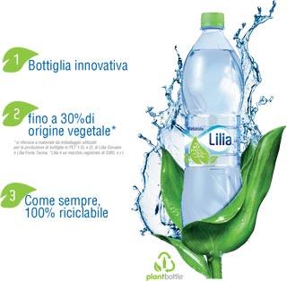 FONTI DEL VULTURE presenta l'innovativa PlantBottle™ per le acque Lilia
