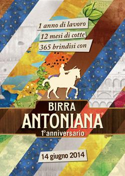 BIRRA ANTONIANA festeggia il primo anno di attività con un'edizione speciale