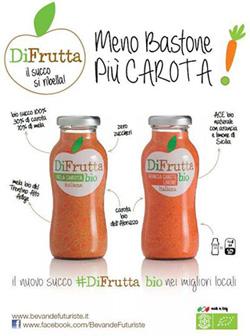 DIFRUTTA, nuova linea di succhi bio di Bevande Futuriste