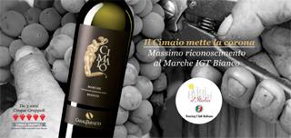 CASALFARNETO Gruppo TOGNI: La Corona del Touring Club al Cimaio Marche IGT Bianco annata 2011