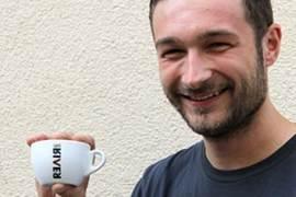 Christian Ullrich campione del mondo Latte Art Caffè River Tazzina