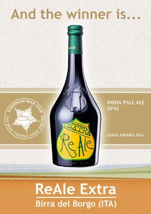 La ReAle Extra di BIRRA DEL BORGO conquista la Medaglia d'Oro all'European Beer Star Award 2014