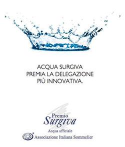 SURGIVA, l'acqua ufficiale dell'Associazione Italiana Sommelier, premia l'AIS di Città di Castello