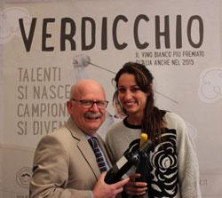 La campionessa di scherma Elisa Di Francisca è la nuova ambasciatrice del VERDICCHIO nel mondo