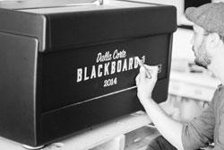 Allo stand-fabbrica di DALLA CORTE, workshop personalizzati e la macchina Blackboard