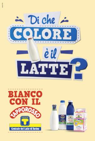 """CENTRALE LATTE TORINO: al via la campagna Tapporosso """"Di che colore è il latte?"""""""