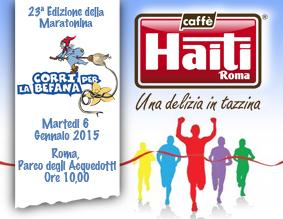 CAFFÈ HAITI ROMA di nuovo insieme ai runners per l'evento Corri per la Befana