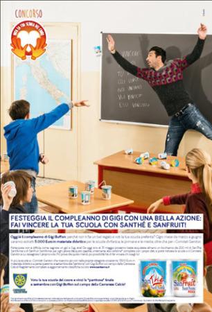 Buffon scende in campo con SANT'ANNA per sostenere le scuole italiane