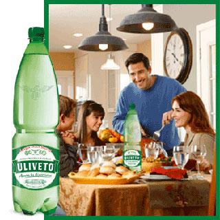 ULIVETO: anche nel 2014 è l'acqua effervescente naturale più venduta in Italia (24,6% di quota a volume nella GDO)
