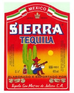 Tequila Sierra Etichetta