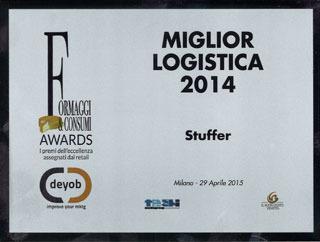 Per il secondo anno consecutivo STUFFER vince il premio per la miglior logistica