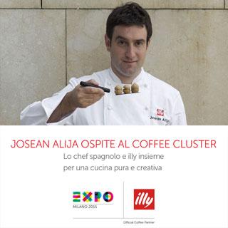 Josean Alija e ILLYCAFFÈ presentano a EXPO il caffè verde come nuovo ingrediente in cucina