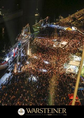 """WARSTEINER torna sponsor alla """"Molo Street Parade"""" per il quarto anno consecutivo"""