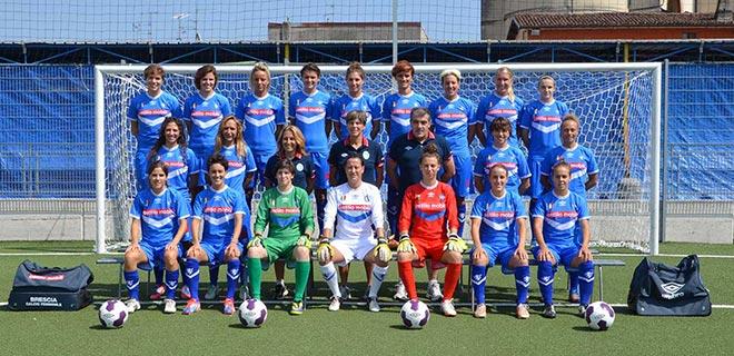 Squadra del Brescia Calcio Femminile Maniva