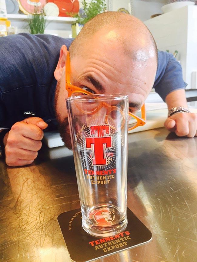 Marcello Ferrarini e Tennent's Bicchiere