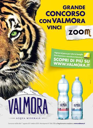 Valmora Acqua Minerale - Grande Concorso con Valcimora vinci Zoom - Tigre