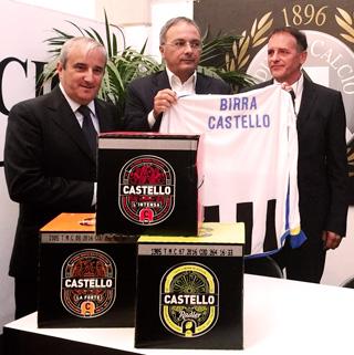 BIRRA CASTELLO, eccellenza del territorio friulano, sponsorizza Udinese Calcio