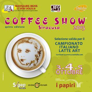 Quinta edizione del COFFEE SHOW LATTE ART a Siracusa