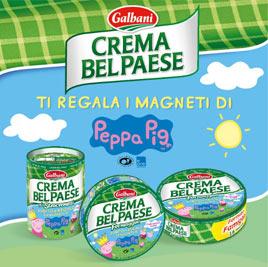 Peppa Pig e Crema Bel Paese Galbani  insieme per una promozione dedicata ai bambini