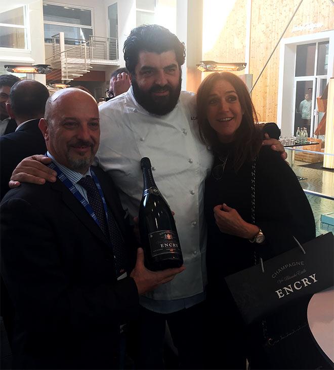 Chef Anatonino Cannavacciuolo con Champagne Encry