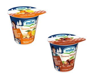 """Le novità MILA """"LIMITED EDITION"""" per l'inverno dei golosi: yogurt intero arancia e castagna"""