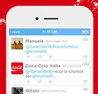 Parte la campagna d'auguri COCA-COLA con il servizio Twitter Autoreply