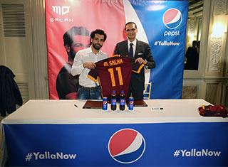 PEPSICO: l'attaccante egiziano della Roma Mohamed Salah, nuovo Brand Ambassador di Pepsi Cola per il Medio Oriente