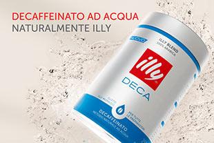 Il nuovo ILLY DECA, decaffeinato ad acqua, in confezione barattolo