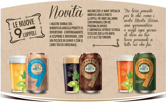 Lattine Poretti 9 Luppoli Witbier - Porter - IPA - India Pale Ale
