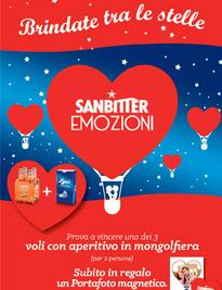 Con Sanbittèr e Baci Perugina, San Valentino si festeggia con un brindisi tra le stelle in mongolfiera