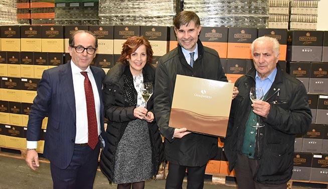 da sinistra: Paolo e Paola Togni, il viceministro Andrea Olivero e Giulio Guidi