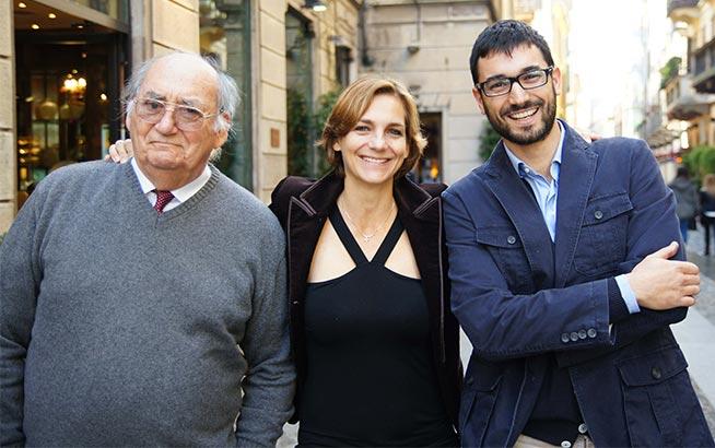 Stefano Aymerich di Laconi, Ondine de la Feld e Giulio Piazzini enologo interno della cantina