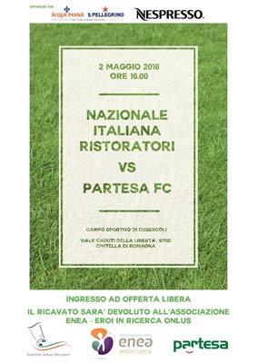 PARTESA BU Emilia Romagna e gli Chef NIR in campo a favore dell'Associazione no profit Enea