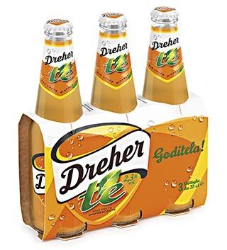 DREHER: dopo le radler arriva ora il il nuovo mix a base di birra dreher, infuso di te' e succo di limone