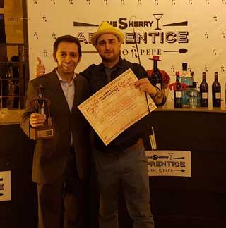 """Marco Macelloni vince la finale della """"The sherry apprentice by Tio Pepe"""""""