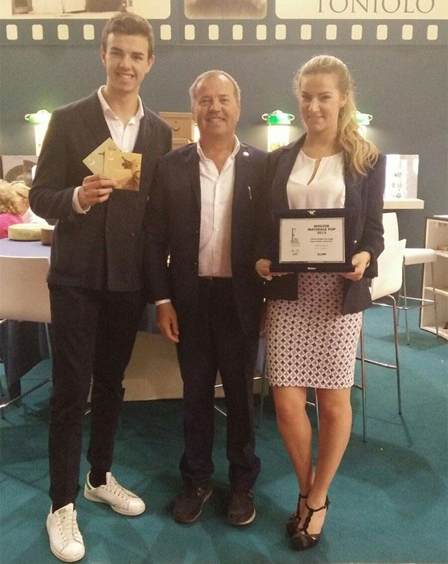 premio-Tespi2016 Mauro Toniolo coi figli Lucrezia e Umberto