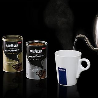 LAVAZZA entra nel mercato del solubile con PRONTISSIMO!, il primo caffè solubile Premium che unisce la praticità all'alta qualità