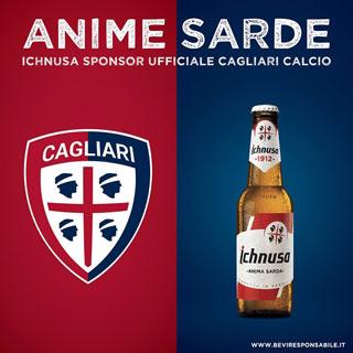 BIRRA ICHNUSA sponsorizza la squadra del Calcio Cagliari per tre anni