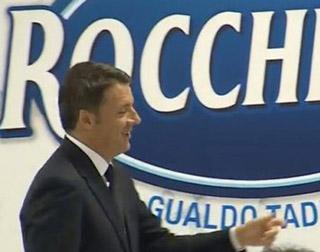 COGEDI: Matteo Renzi in visita allo stabilimento dell'acqua minerale Rocchetta
