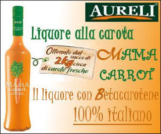 AURELI presenta il MAMA CARROT, il liquore alla carota con Betacarotene