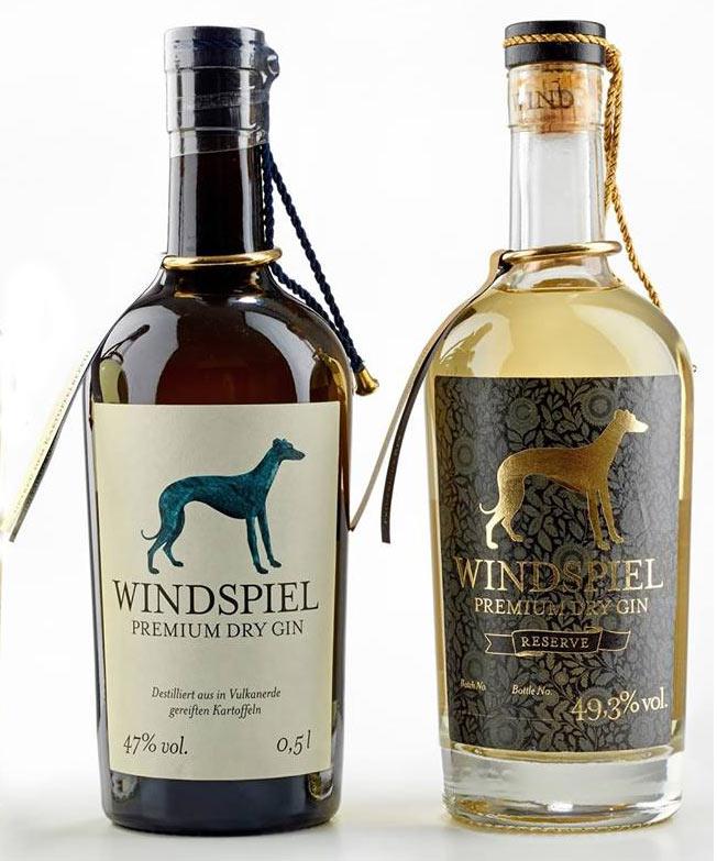 I gin Windspell con il levriero