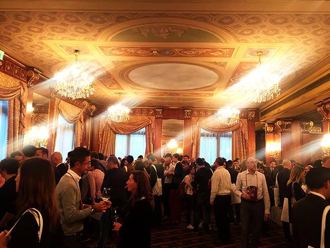 Banchetti assaggio Vini all'Hotel Principe di Savoia per la Presentazione delle Guida Essenziale ai Vini d'Italia 2017 di Doctor Wine